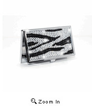 97 Zebra Print Swarovski Crystal Business Card...