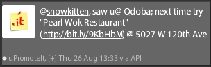 Twitter Ad directed at me advertising a Chinese restaurant