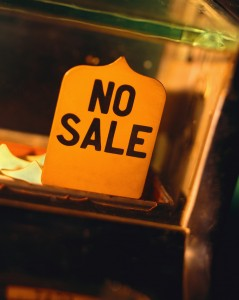 No Sale Sign on Cash Register